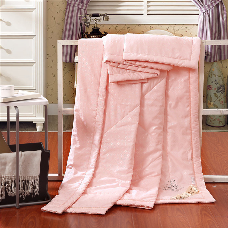 Hot Sale 4 Style Summer Silk Quilt Size King Queen Full Soild ... : silk quilts for sale - Adamdwight.com