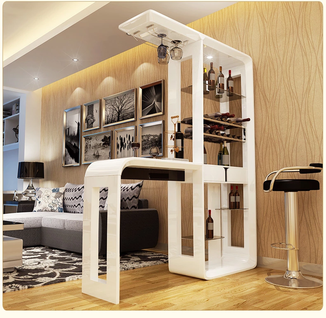 Home Bar Möbel Set Stehtisch Mit Führte Gehärtetem Glas Q01 In Home