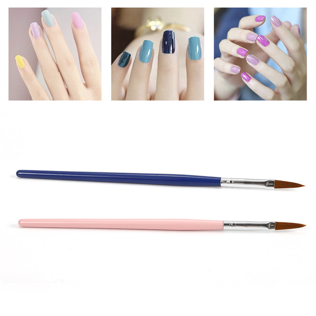 1pcs Wood Handle Nail Art Brush Polish Painting Pen UV Gel Nail Art ...