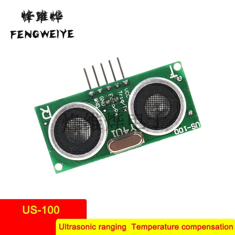 Panel US 100 ultrasonic ranging module with temperature compensated ultrasonic module sensor dual mode serial port