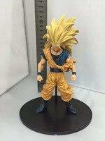 2018 anime 21 cm Dragon Ball Z Super Saiyan 3 Goku PVC Figura de Acción de Colección Modelo de construcción de Juguetes envío gratis