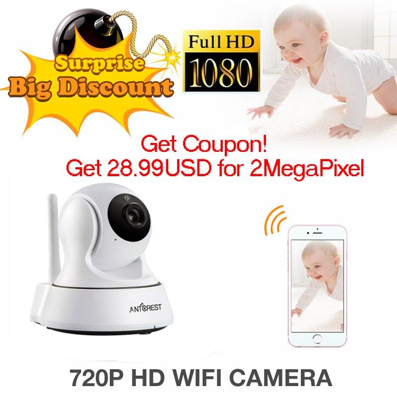 ANTCREST Mini 960P 1080P Wireless Wifi Night Vision Onvif IR Night Vision Sucurity IP Camera Wi