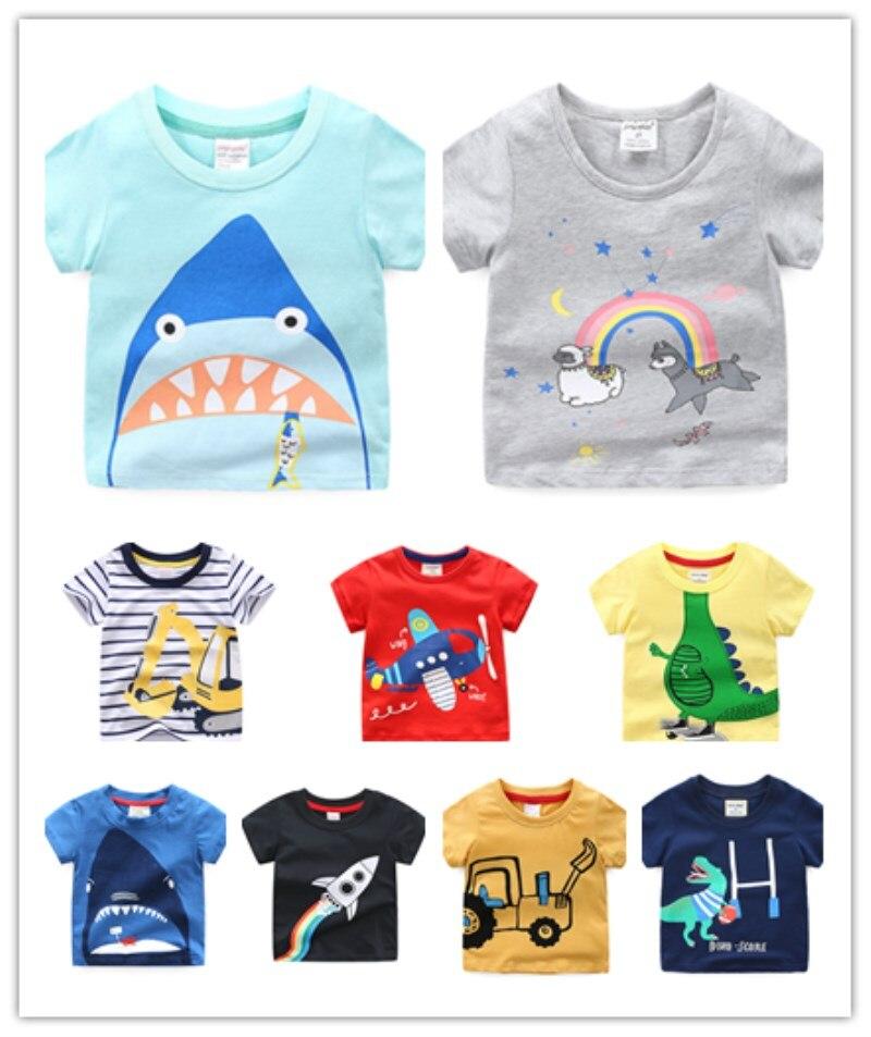 Meisjes Jongens T-shirt Auto Eenhoorn Dinosaur Animal Print Helly Hansen T-shirt Bobo Choses Zomer Top Kids Lol Party Korte Mouw