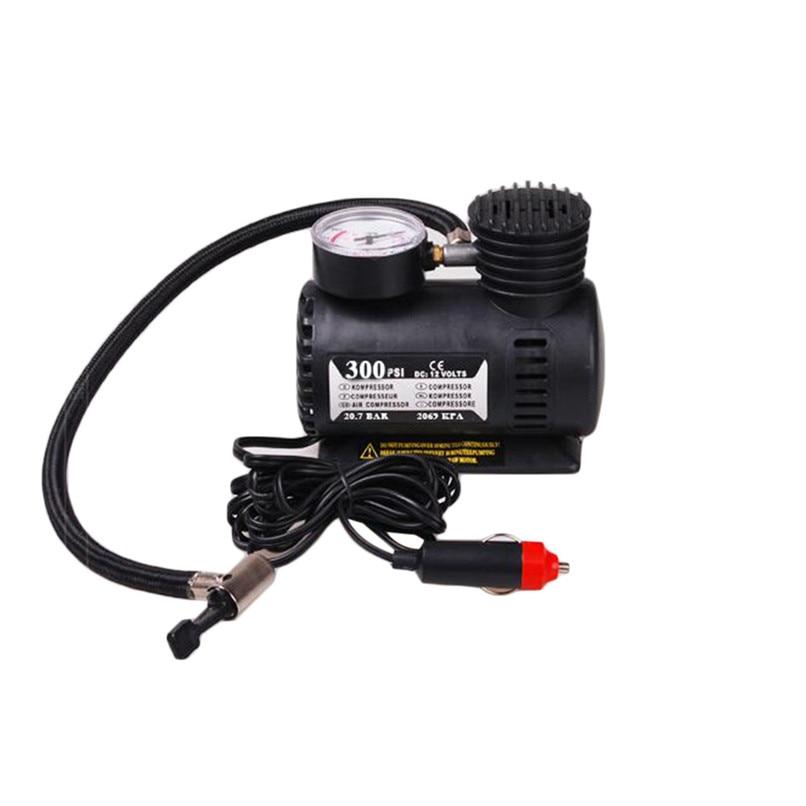 12v Car Electric Mini Compact Compressor Pump Bike Tyre Air Inflator 300psi...