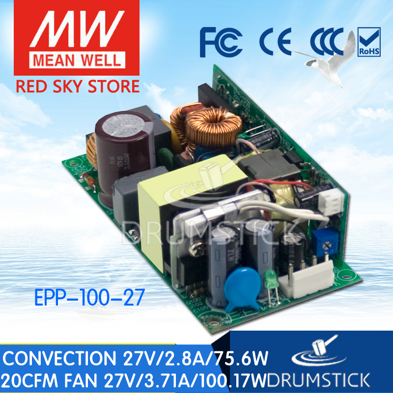 Hot sale MEAN WELL EPP-100-27 27V 2.8A meanwell EPP-100 27V 75.6W Single Output with PFC FunctionHot sale MEAN WELL EPP-100-27 27V 2.8A meanwell EPP-100 27V 75.6W Single Output with PFC Function