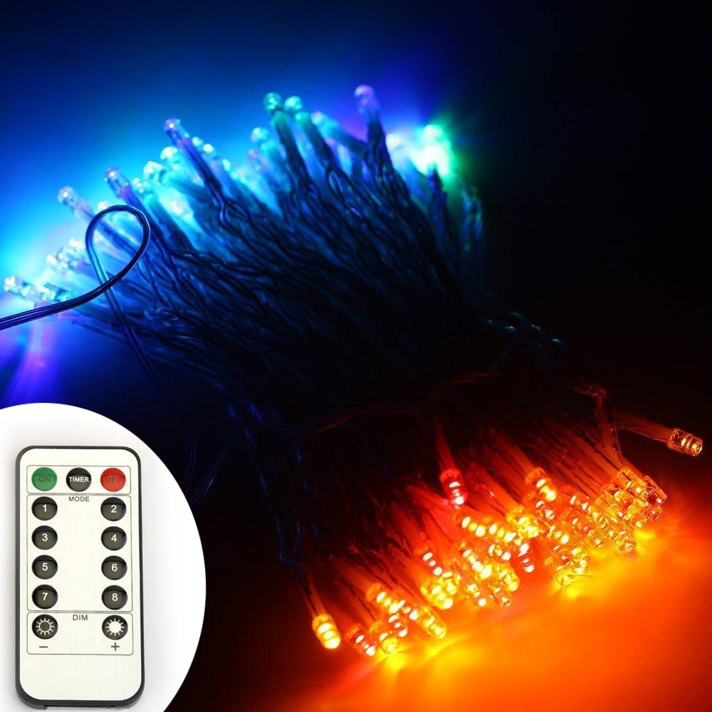 6AA Bateri Powered 10M 33FT 100LED PVC Wire Krismas String Fairy - Pencahayaan perayaan - Foto 4