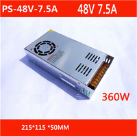Free Shipping AC 110 240V to DC 48V 7.5A Switching Power Supply Converter with power cable PS 48V 7.5A