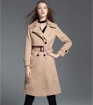 Long windbreaker Women over the knee coat autumn and winter new England loose long trench coat female large size outwear !