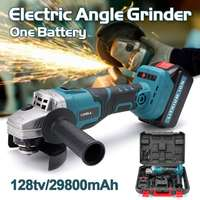 Protable Electric Angle Grinder Cordless Power Cutting Tool + 128tv/29800mA lithium battery Rechargeable Power Tool Grinder