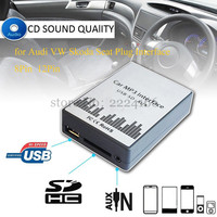SITAILE USB SD AUX Car MP3 Music Playerr CD Changer Adapter for Audi VW Skoda 8PIN 12PIN Interface Car Kit Simple installation