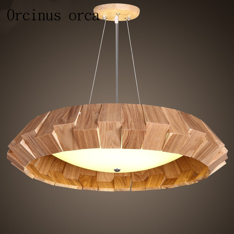Nordic minimalist modern led restaurant, chandelier creative personality office, solid wood bedroom, study room, bar Chandelier
