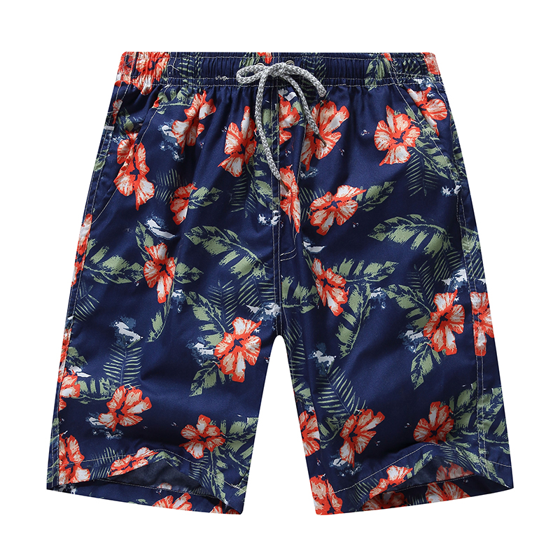 2019 Summer Men Board Shorts Breathable Quick Dry Printed Beach Shorts Men Swimwear Short Pants Short