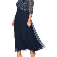 f4264d3c6 2019 Women's Chiffon Beading Tea Length Long Sleeves Mother Of The Bride  Dress Plus Size Vestidos