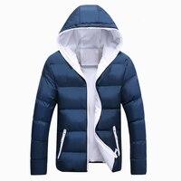 Мужские куртки 2019, зимняя повседневная верхняя одежда, ветровка, мужская приталенная куртка с капюшоном, модные мужские пальто, большие раз...