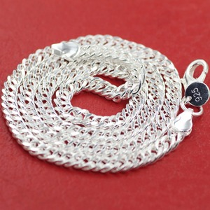 wholesale silver 5mm wide Men's Necklace 20inch Free shipping, silver plated men chain necklace,FASHION JEWELRY 20inch