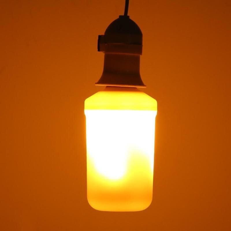 AC 90-265V E27 LED Decorative Bulb Lamp 4W 99LED Flame Effect Bulb Lamp Simulation Decorative Light Flickering Holiday Lamp