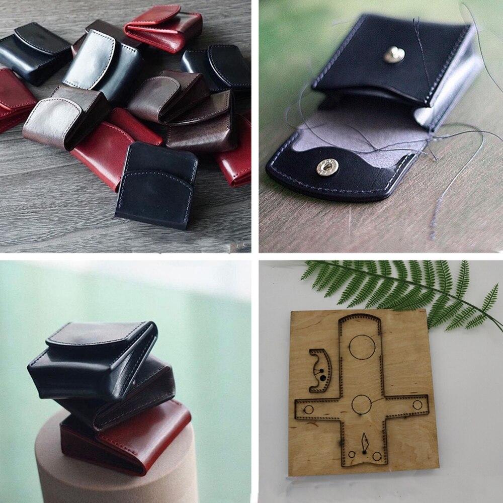 La règle de lame en acier du japon a découpé le sac de pièce de poinçon en acier découpant des matrices en bois de moule pour le coupeur en cuir pour l'artisanat en cuir 70x60mm