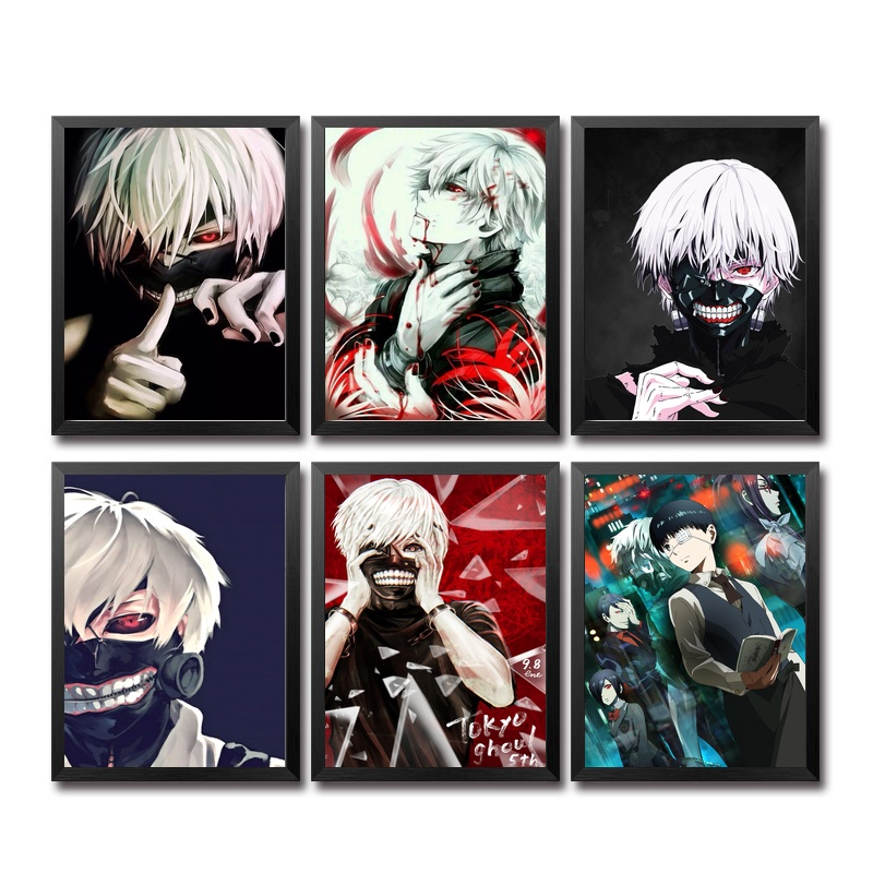 Tokyo Ghoul Animation Poster Wall Art Wall Decor Silk Prints Art Poster Paintings For Living Room