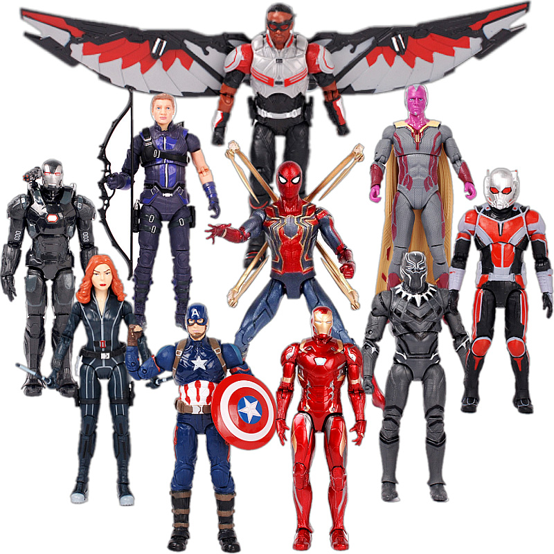 Avengers Infinity War Endgame Acton Figure Captain America Hawkeye Iron Ant Man SHF Figuarts Collectible Model Toys image