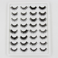 AMAOLASH Eyelashes 3D Mink False Eyelashes Cruelty Free Fluffy Luxury 3D Mink Full stripe Lashes Extension Makeup 16 Pairs / Box