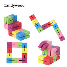Candywood Wooden Creative Blocks 3D Constructor DIY Toys Mini Variety Robot Building Blocks Kids Educational Toys for Boys(China)