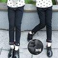 Девушка теплые джинсы 4 5 6 7 8 9 10 11 12 13 лет ковбой брюки девушка мода джинсы бархатные брюки в зима