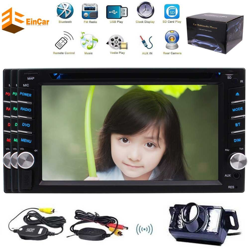 Wireless Camera+6.2'' Car DVD Player Autoradio Bluetooth 2DIN Headunit USB SD Aux Wince Multimedia system FM Receiver Car Multi double 2 din car autoradio stereo headunit 6 2 multi touch capacitive screen car dvd cd player mp3 mp4 usb tf bluetooth aux