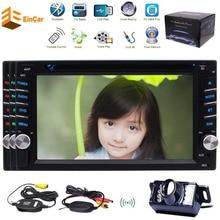Wireless Camera 6 2 Car DVD Player Autoradio Bluetooth 2DIN Headunit USB SD Aux Wince Multimedia
