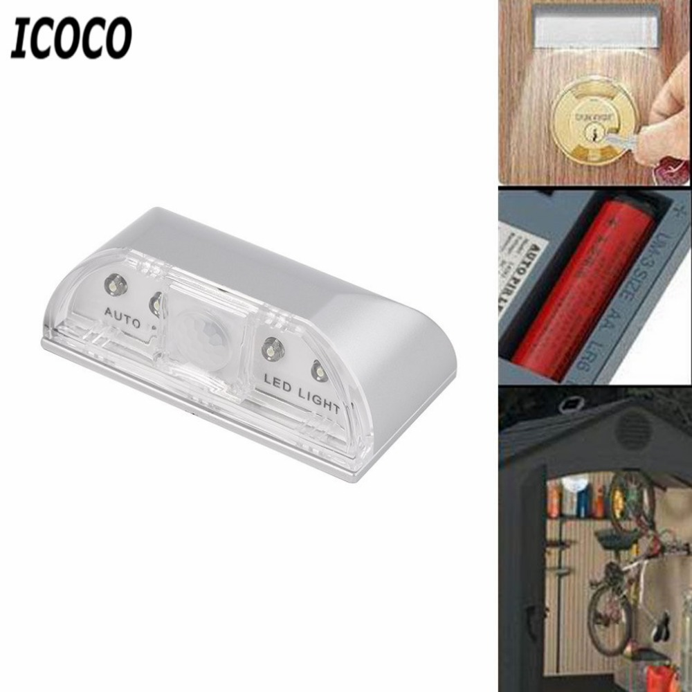 ICOCO 1 stücke 4 LED IR Sensor Licht Auto PIR Infrarot Hause Tür - Nachtlichter - Foto 4
