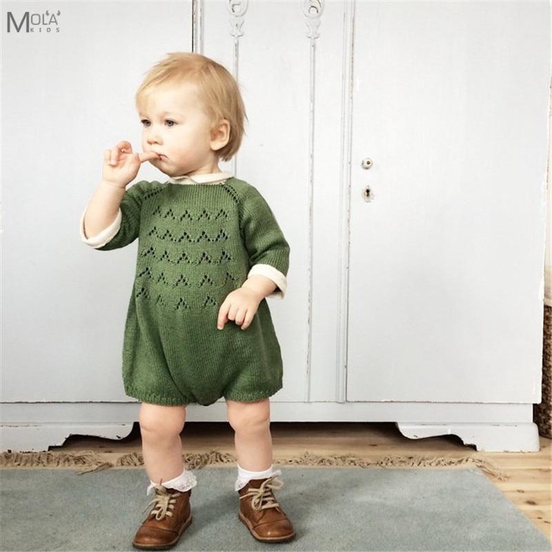 Kikikids New Born Baby Girls Rompers Knit Boys Clothes Kawaii Winter Romper Maka Kids Jumpsuits Bebe Brand Kids Sweaters