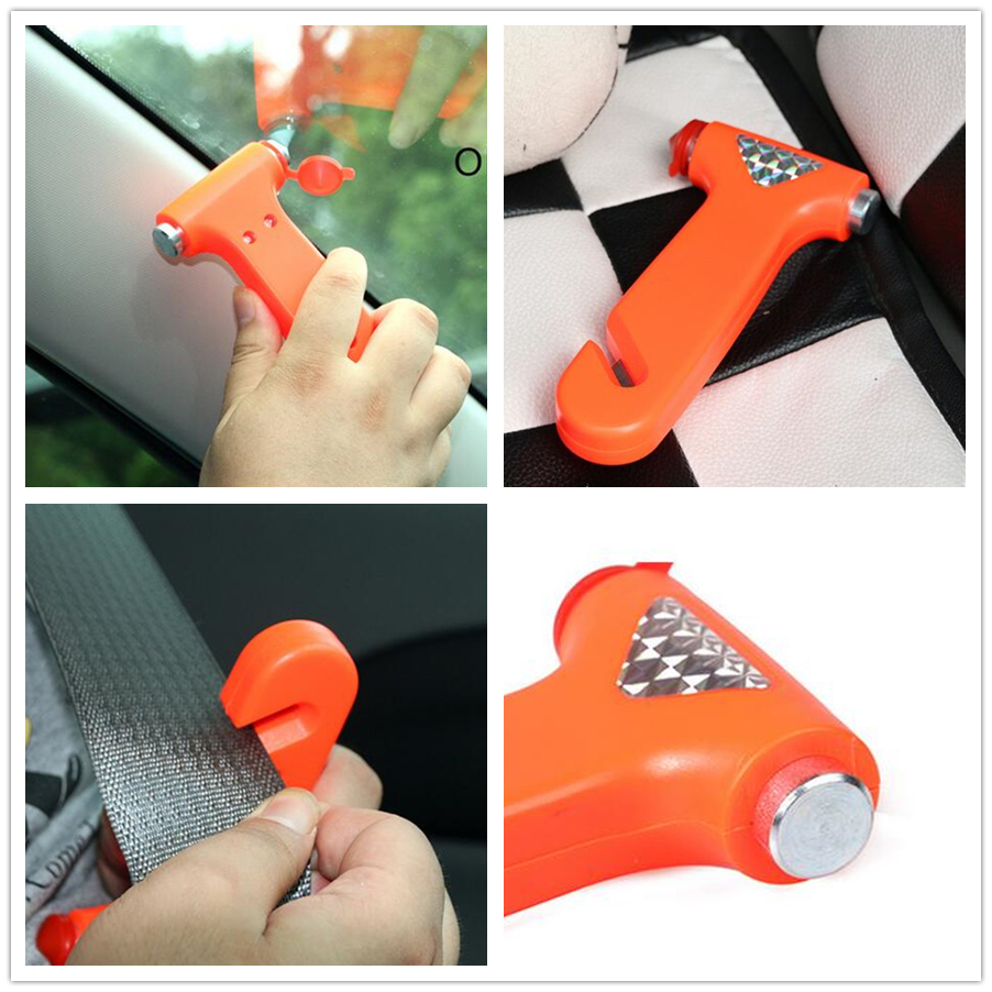 Mini Car Safety Hammer Life-saving Escape Hammer Window Emperorship Keychain Car Window Broken Emergency Glass Breaker