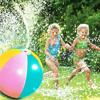 2019 Newest Hot Inflatable PVC Water Spray Beach Ball for Outdoor Lawn Summer Game Children s Toy Ball Water Jet Ball discount