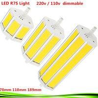 1PCS Dimmable R7S LED 15W 25W 30W Samsung SMD5730 Led R7s 78mm J78 118mm J118 189mm