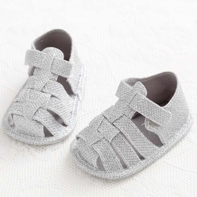 bb085e31861e Pure Gray Baby Boys First Walker Summer Soft Sole Anti Slip Newborn Baby  Shoes Children Kids Loafer Indoor Shoes 3 Size