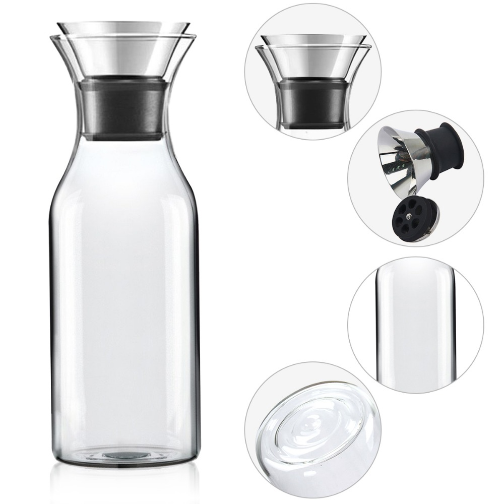Onwijs 1L Transparante hittebestendig Glas Drank Pitcher Watter Fles GR-22