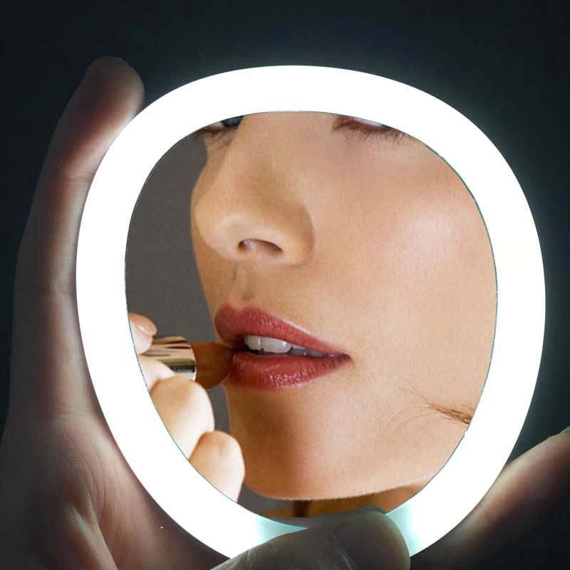 LED Touch Screen Makeup Mirror light Travel Mirror rechargeable LED mirror light pocket LED