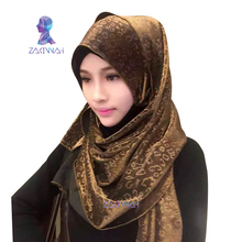 New Fashion Muslim Hijab Gold Fireworks Infinity chiffon silk popular Muslim Hijab Scarves Loop For Women Ladies