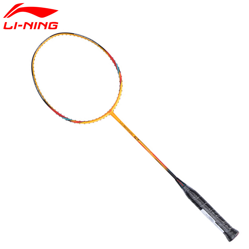 2017 New Li-Ning Badminton Rackets U-Sonic 67 Carbon Fiber LiNing Racquets with 1 Overgrip AYPM228 L750OLC цена