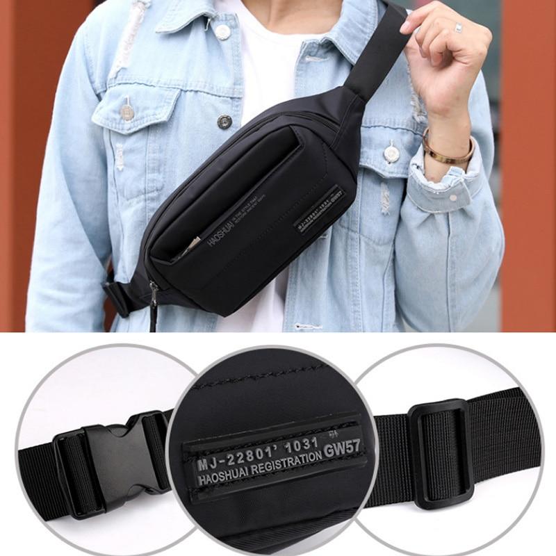 Men Waterproof Nylon Hip Bum Belt Pouch Fanny Pack Waist Purse Bag Travel Hiking Sport Messenger Shoulder Sling Chest Bags