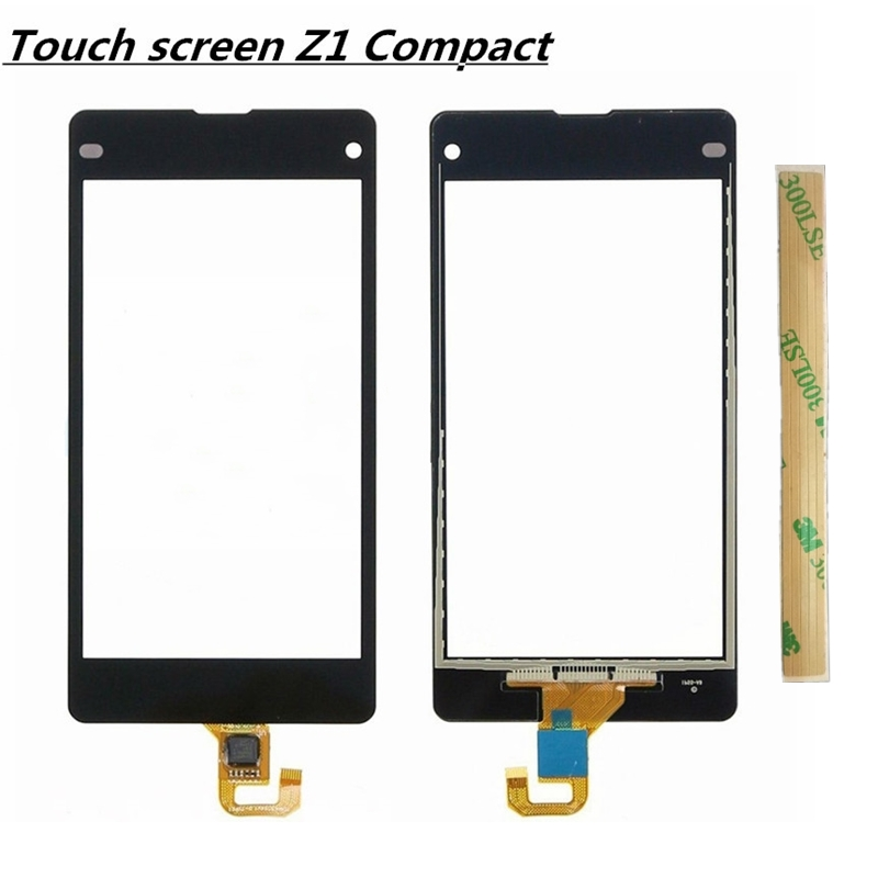 Black Touch Screen Digitizer Lens Front Glass Panel  For Sony Xperia Z1 Mini D5503  Touch Screen Digitizer (free +3m Tape+Opening Repair Tools+glue )
