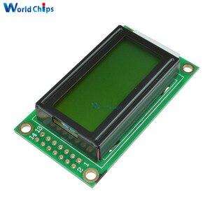 Модуль ЖК-дисплея для Arduino Raspberry pi, желтый 0802 ЖК-дисплей 8x2, 5 В LCM
