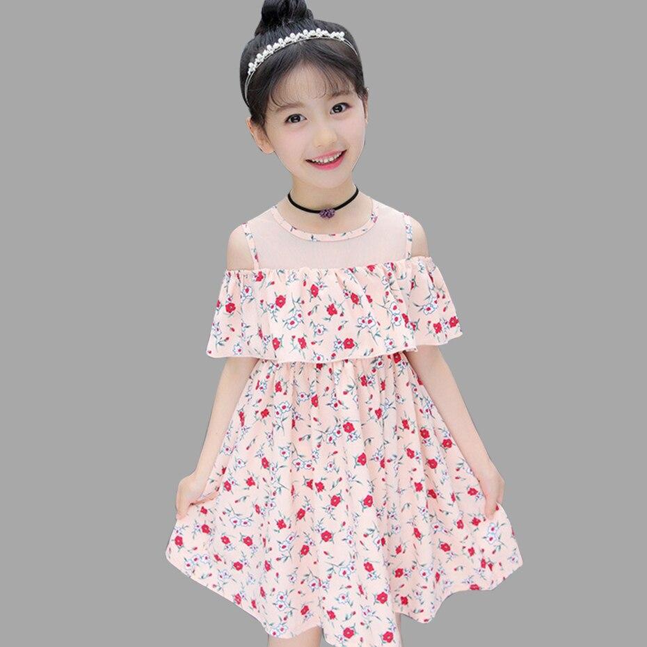 b7dd496fa2698 Summer Dresses For Girls Off Shoulder Floral Dresses For Teenager ...