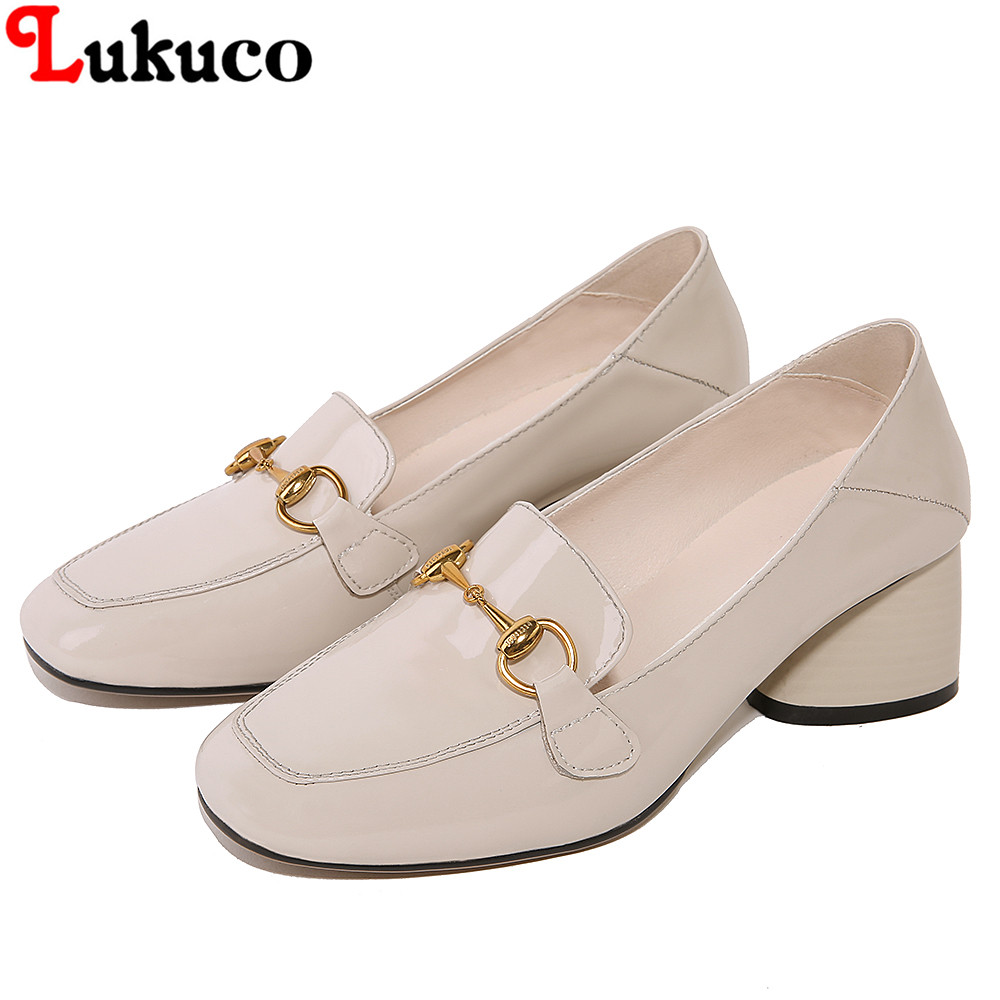 2018 New High Plus Big Size 34-48 Slip-On Elegant Genuine Leather Pumps Female Lady Women Autumn Shoes Handmade Casual Shoes artmu women high heels shoes two kinds of wear methods shoes female handmade leather shoes women pumps slip on shoes