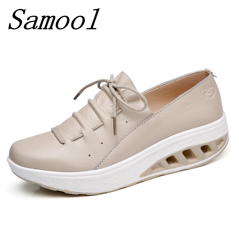 Thick Soles Women Shoes Spring Autumn Zapatos Mujer Wedge Platform Loss Weight Slimming Sneakers Leather Lacing Swing Shoes jx4 free shipping fashion loss weight women shoes spring summer autumn swing female breathable mesh shoes women casual shoes 2717w