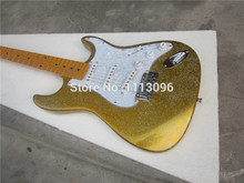 Free shipping+2015 NEW st guitar+electric guitar+s-s-S pickups+GOLAD COLOR+guitar in china free shipping wholesale hot new factory custom shop zakk wylde bullseye emg pickups lp electric guitar in stock