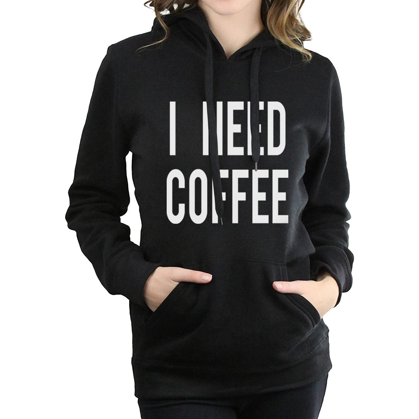 fitness  brand hoodies femme l Need Coffee women hip-hop sweatshirts 2017 autumn hipster harajuku tracksuits funny hoody