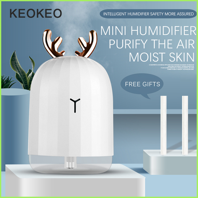 KEOKEO High quality 220ML Portable Air Humidifier USB Aroma Essential Oil Diffuser For Home Humidifier Aromatherapy Diffuser wit
