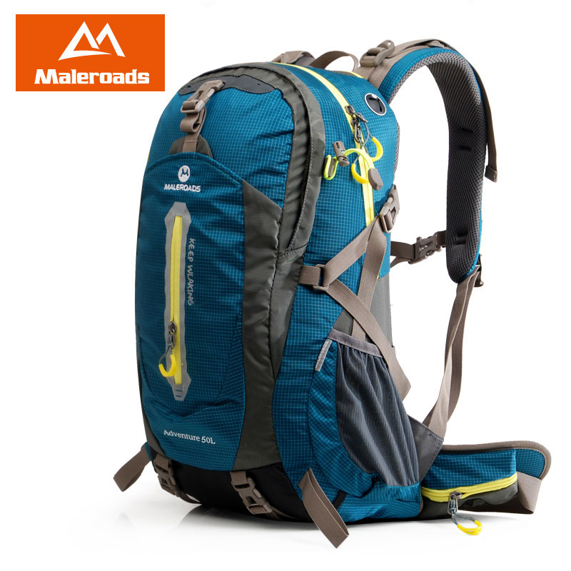 Maleroads Outdoor sport bag travel backpack climbing backpack schoolbag climb knapsack hiking backpack camping packsack 50L bülent ceylan ilshofen