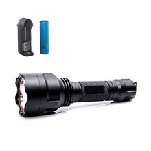 Waterproof  Q5 Led Flashlight Torch Lamp Outdoor Lanterna Flash Light Lampe with batteries and charger For Hunting Fishing