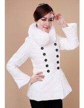 2016 New Winter Jacket Women 90% White Duck Down Women's Parkas Real Fox Fur Collar Plus Size Winter Down jacket Female Outwear